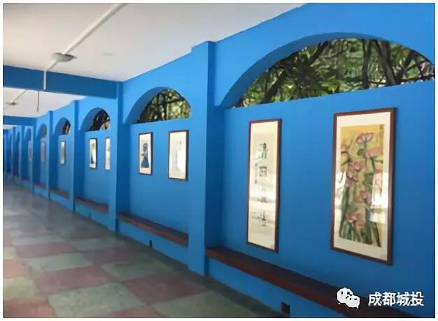 清风扬帆文化廊—成都城投教育集团开展廉洁文化宣传活动