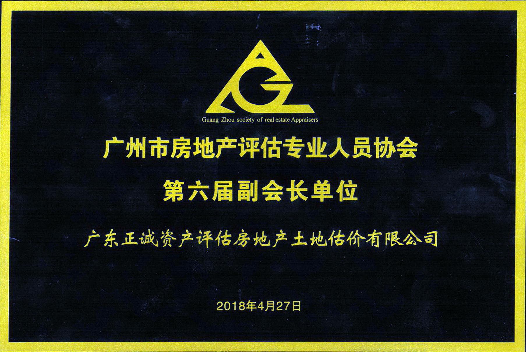 广州市房地产评估专业人员协会副会长单位