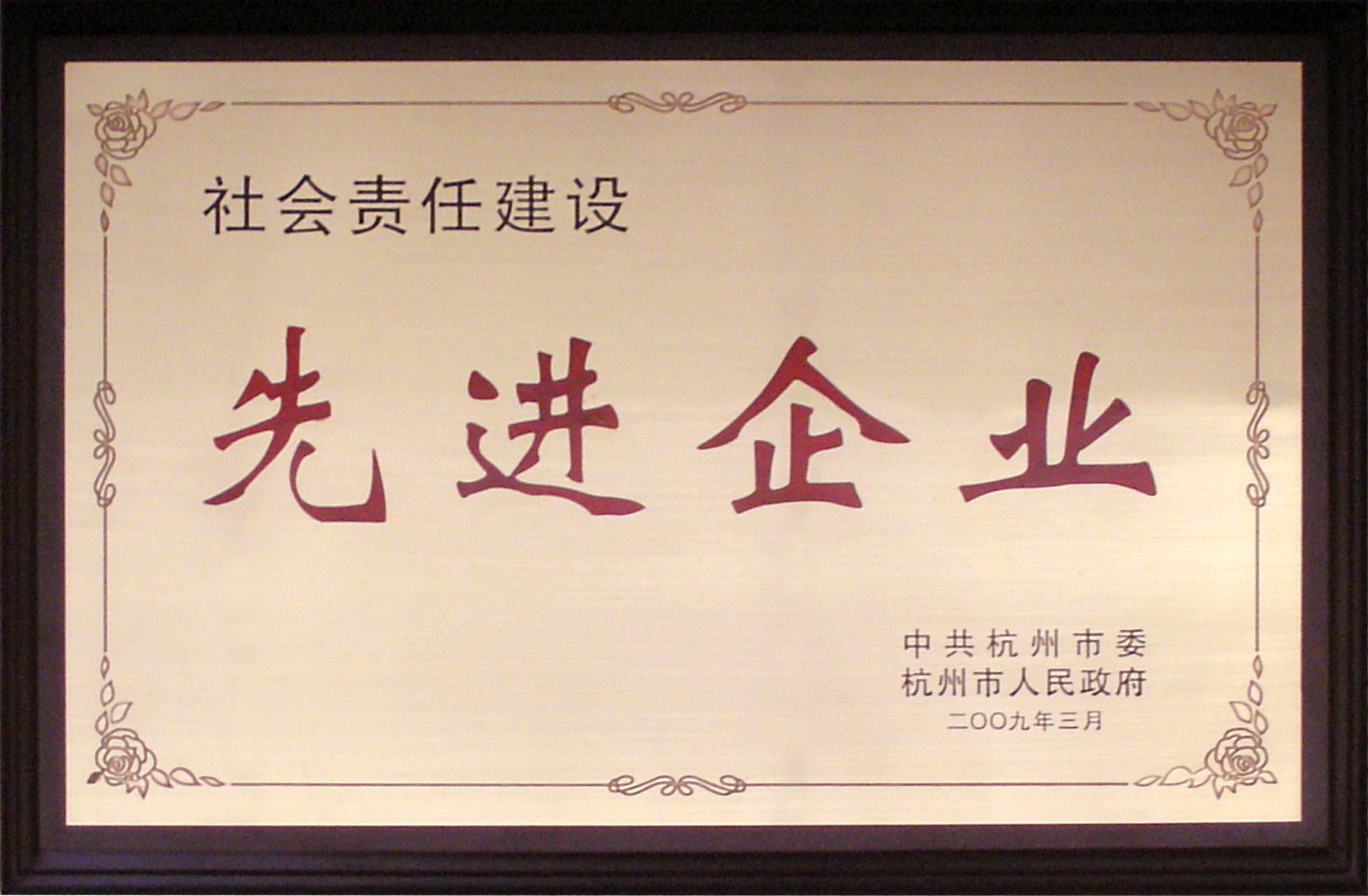 2009年杭州市先進企業